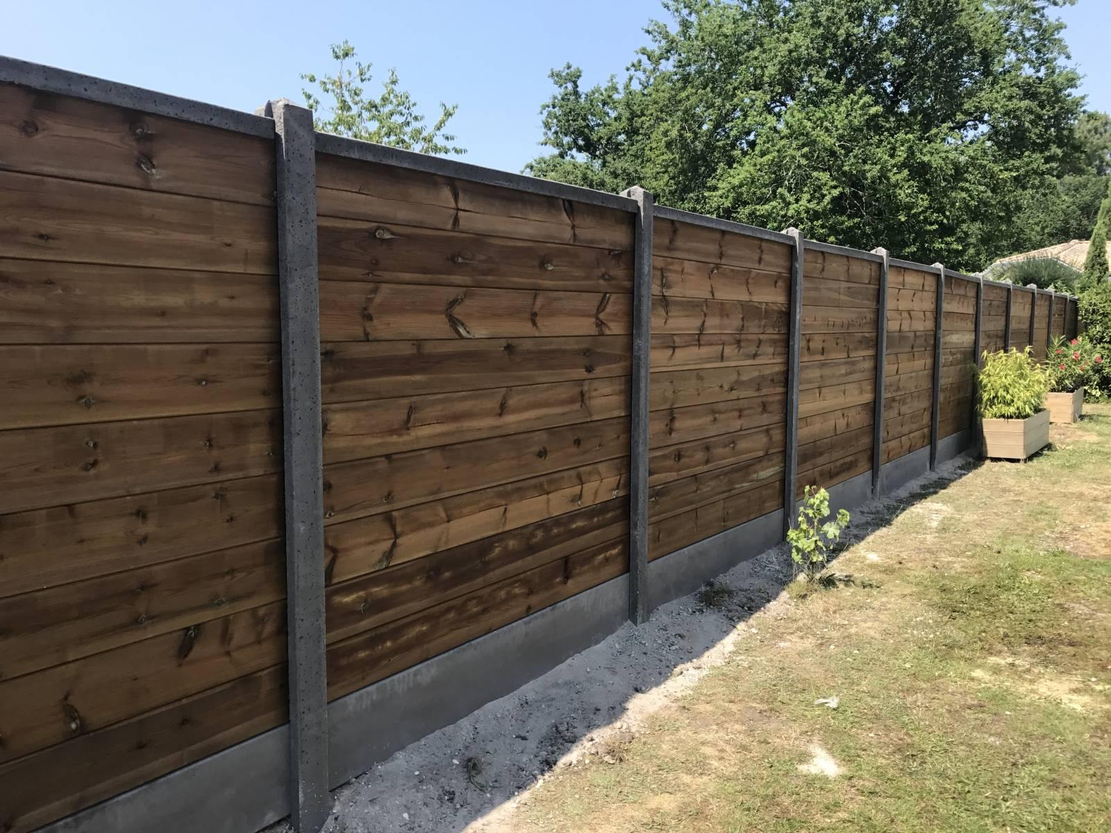 Cloture Bois Hauteur 2M50 pose de clôture et grillage sur bordeaux - aquitaine clôture
